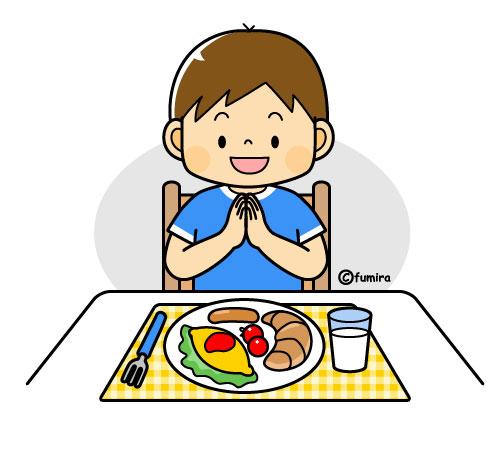 朝ごはんを食べる男の子のイラストカラー 子供と動物のイラスト屋