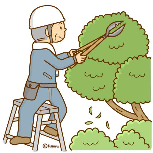 「庭木剪定 イラスト」の画像検索結果
