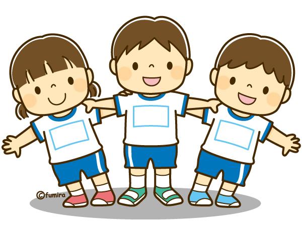 運動会で組体操をする子どものイラストソフト 子供と動物の